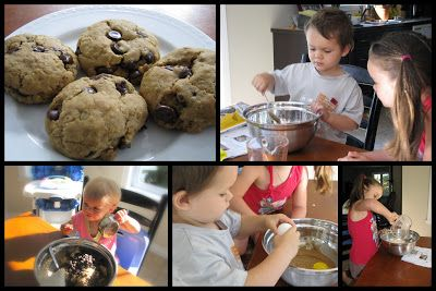 Samedi de cuisiner... des biscuits avoine et chocolat !   Coccinelle et compagnie!