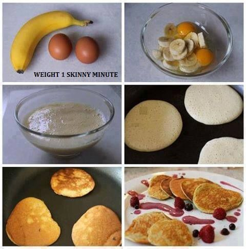 Easy Pancakes   Ingredients  1 Bananas  2 Egg  - Just mix together in a bowl and make sure the banana is all mashed. Then spray your pan with butter or coconut oil. On a low to medium heat, scoop some of the batter into the pan & give it about 20-30 sec, flip, and done! Serve and eat!  Thank you Village Green Network and Everything Kitchen and Cooking for sharing.