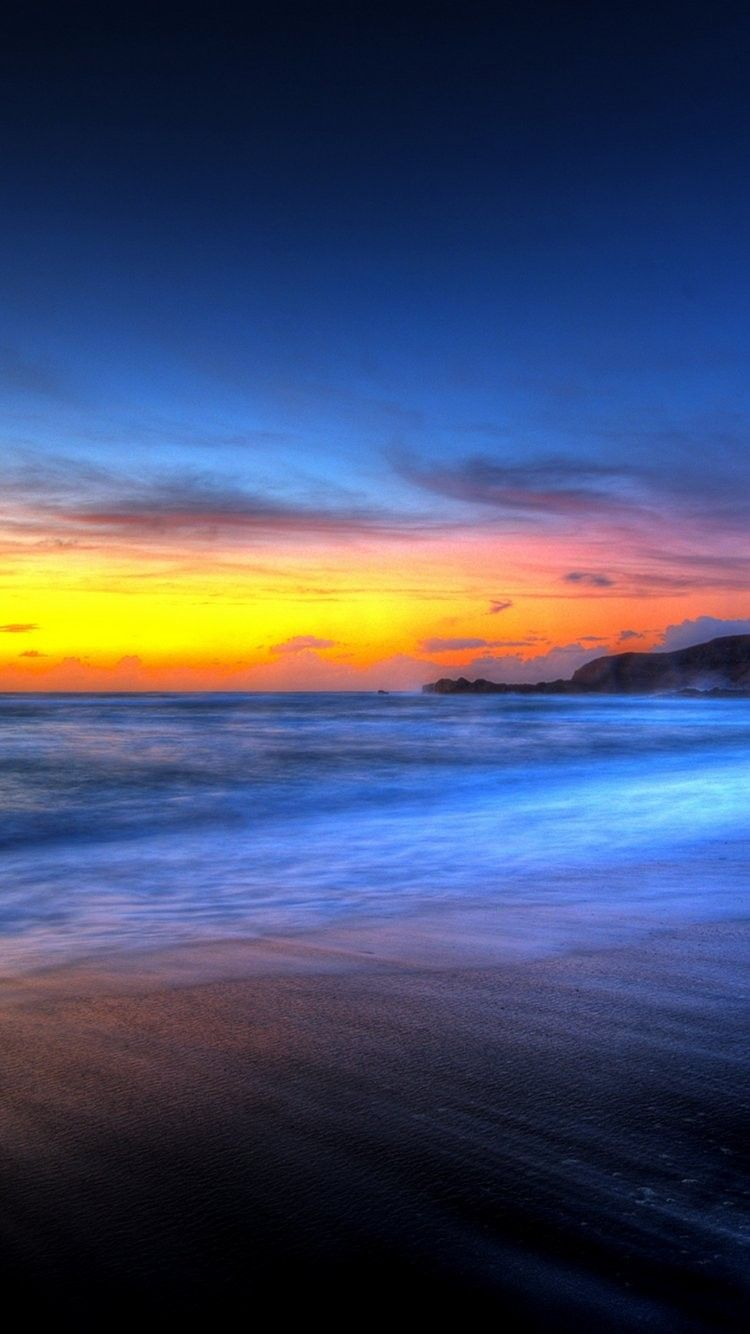 Beautiful Beach Sunset iPhone 6 Wallpaper 28803 Beach