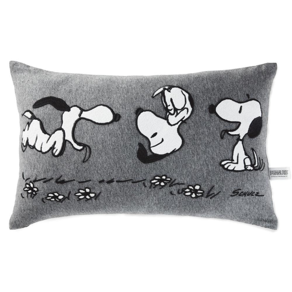 Peanuts Snoopy Lumbar Throw Pillow 20x12 Lumbar Throw Pillow Throw Pillows Soft Throw Pillows