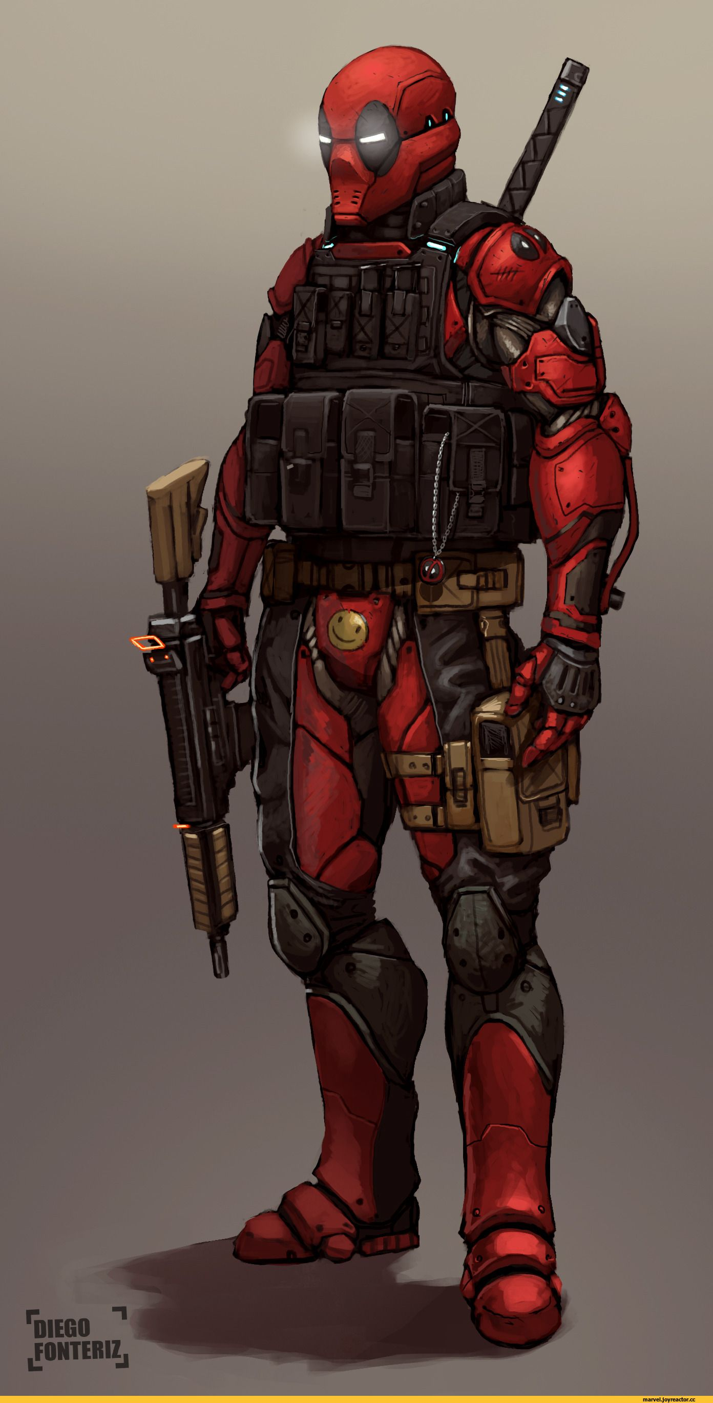 Deadpool robot design... That smiley though... Wow... -Will
