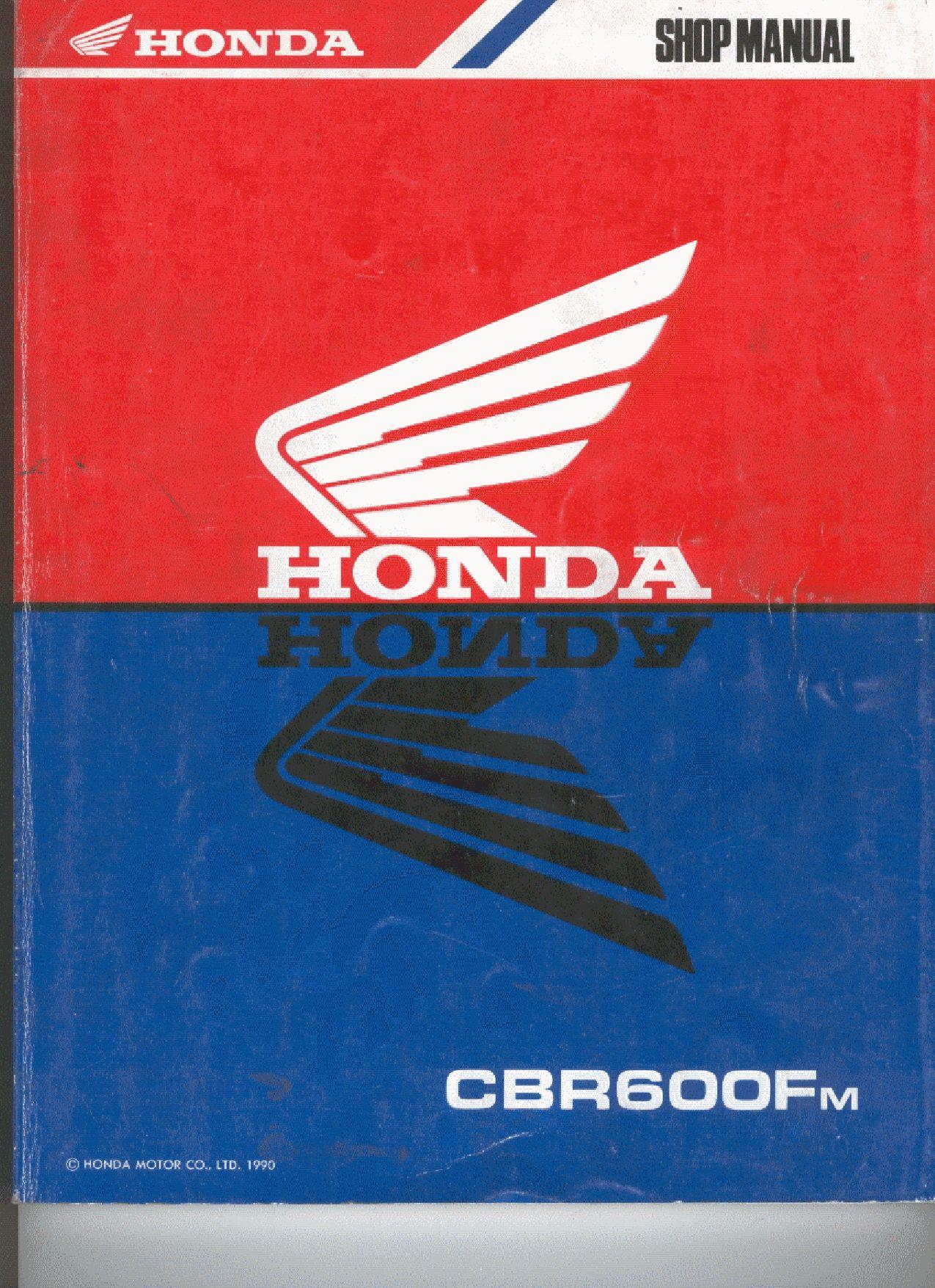 Honda Cbr 600 Fm 19891990 Repair Manual Pdf Download Service Manual Repair Manual Pdf Download Repair Manuals Honda Manual