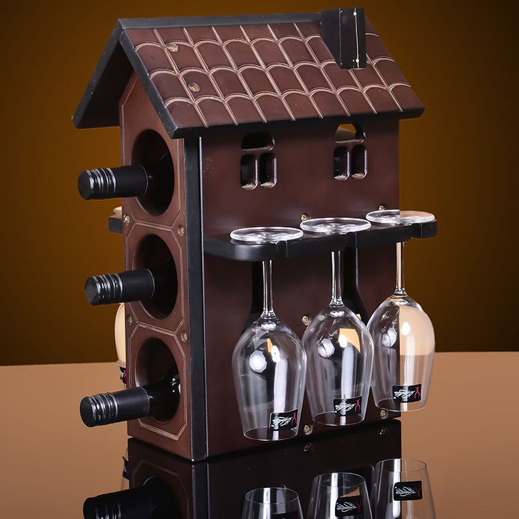 Offer Cabinet Wooden Wine Rack European Grape Wine Rack Wood Wine Frame  Glass Frame Cabinet Decoration Part 79