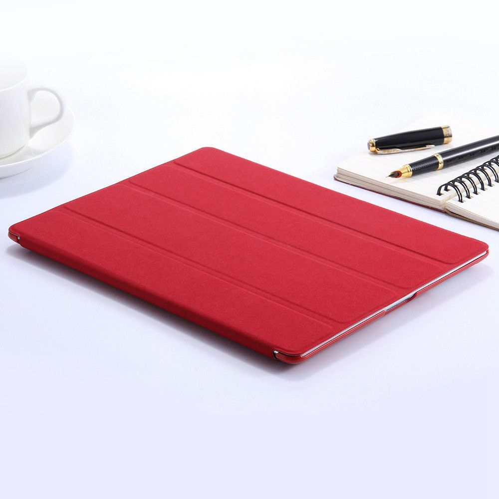 FLOVEME Noble 3 Folded Leather Flip Stand Cover For Apple iPad 2 3 4 Luxury Ultra Thin Pure Color Full Protective Case For iPad2