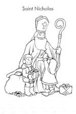 Coloring Page St Nicholas Img 16163 Bischof Nikolaus St