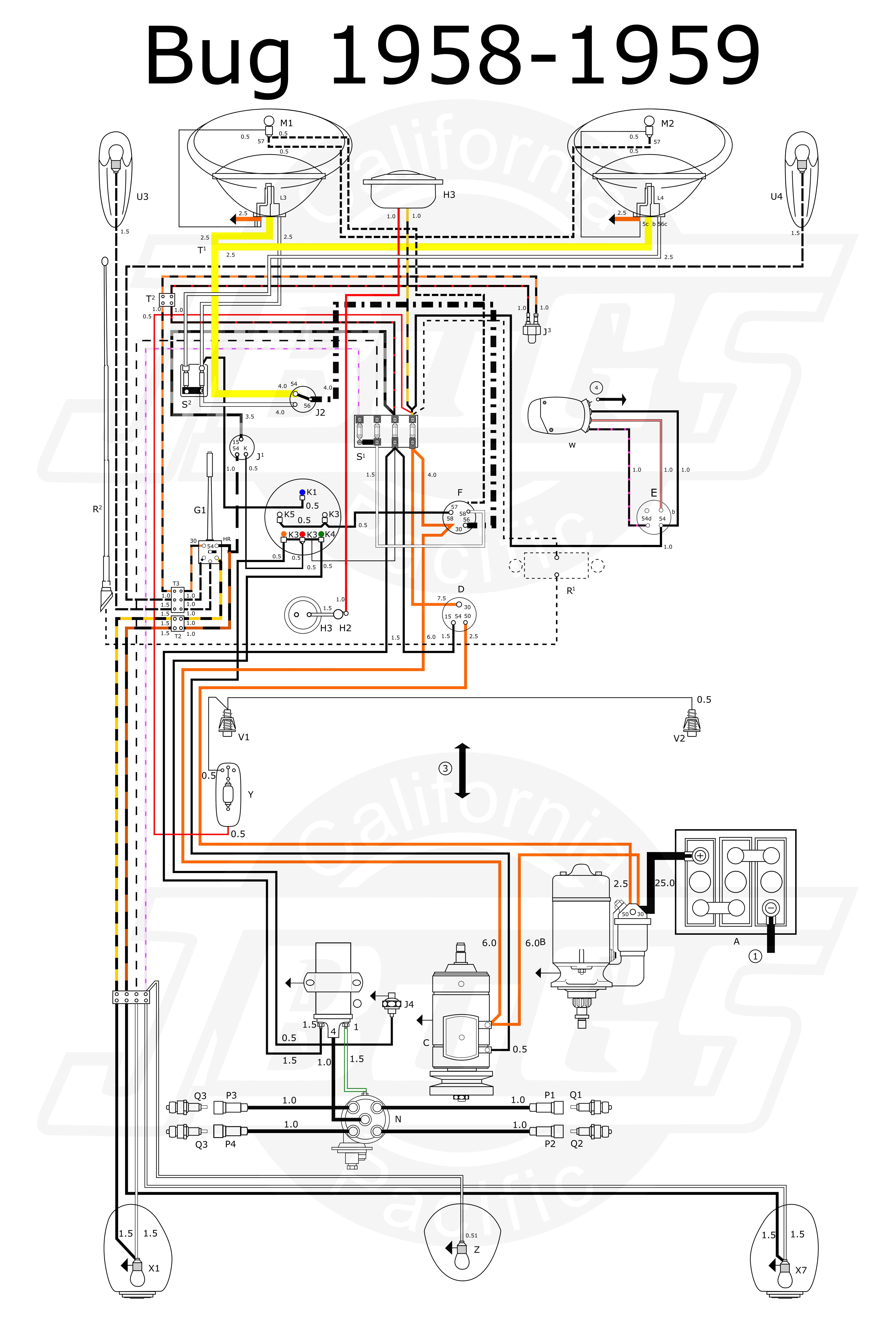 easy wiring harness vw air cooled wiring diagram schema air cooled vw engine wiring diagram air cooled vw wiring diagram [ 5070 x 7475 Pixel ]