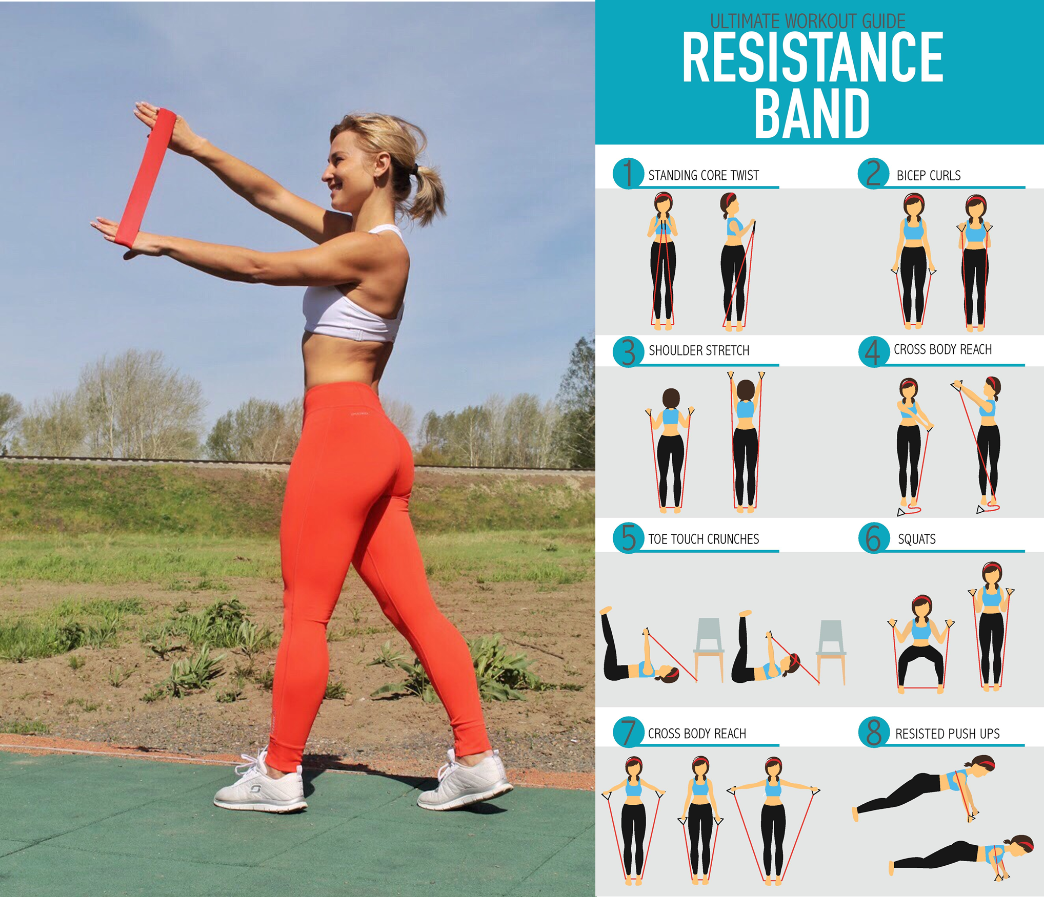 Follow This Workout And Do It With Resistance Bands For
