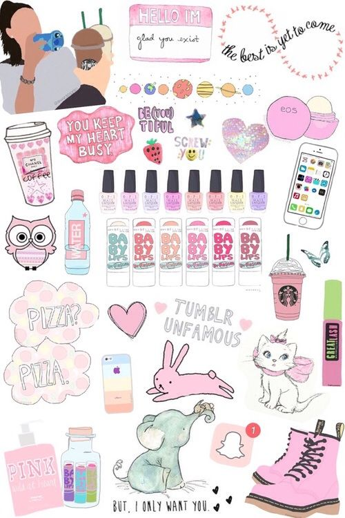 Collage stickers tumblr buscar con google doddle pinterest cran dessin et fond ecran - Wallpaper erstellen ...