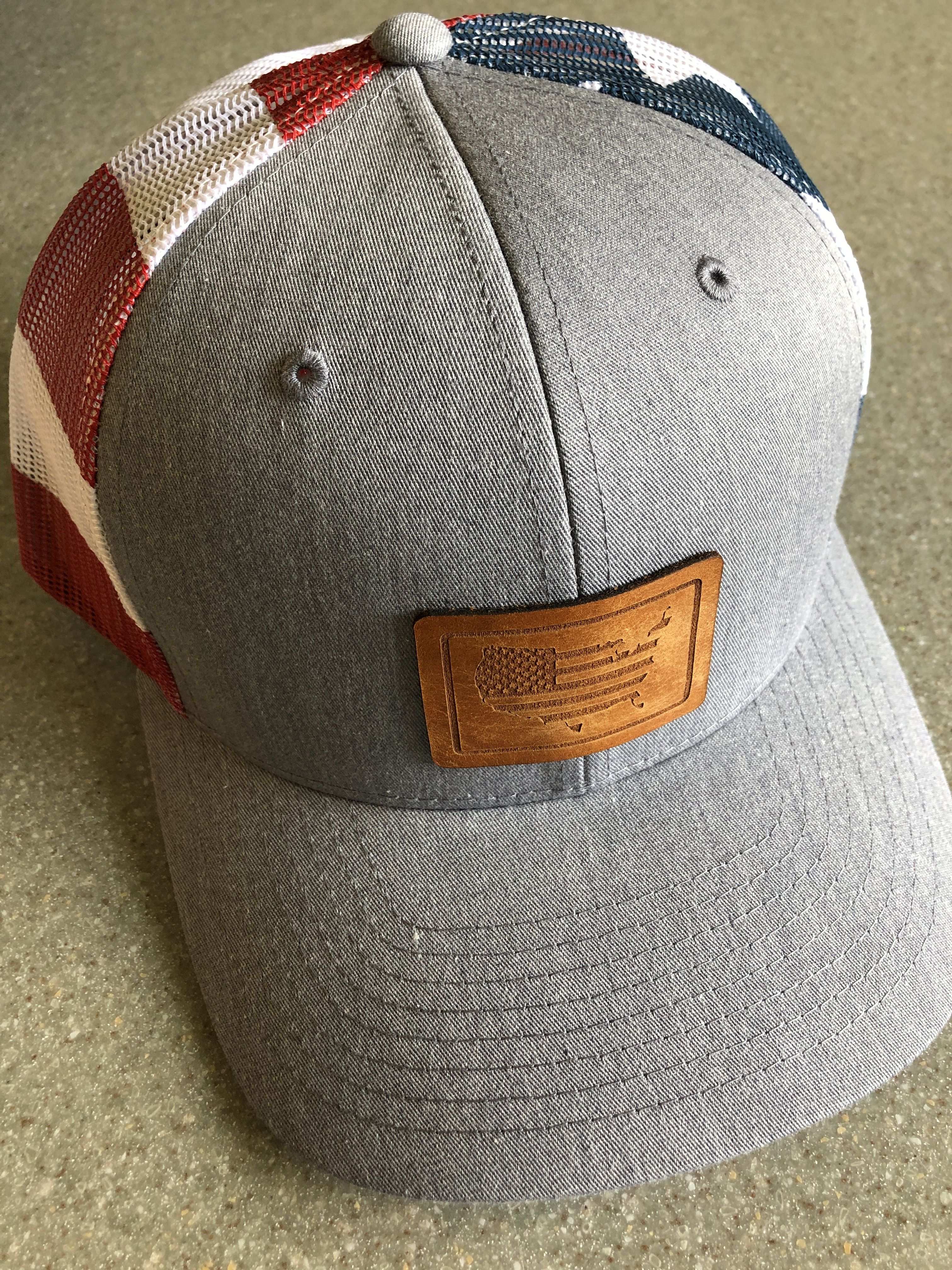 Usa Flag Hat Usa Pride American Made Memorial Day Hat July 4th Hat Cowgirl Accessories Leather Patches Country Hats