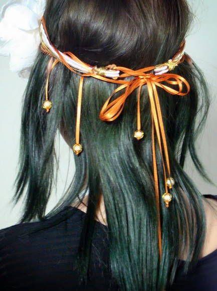 Headband de fios com flor