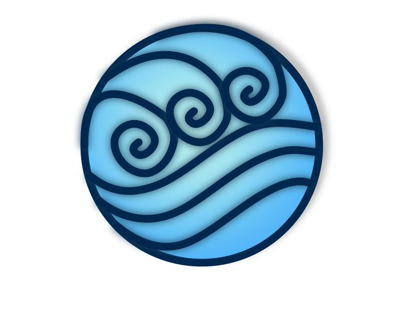 Water Symbol Tatuering