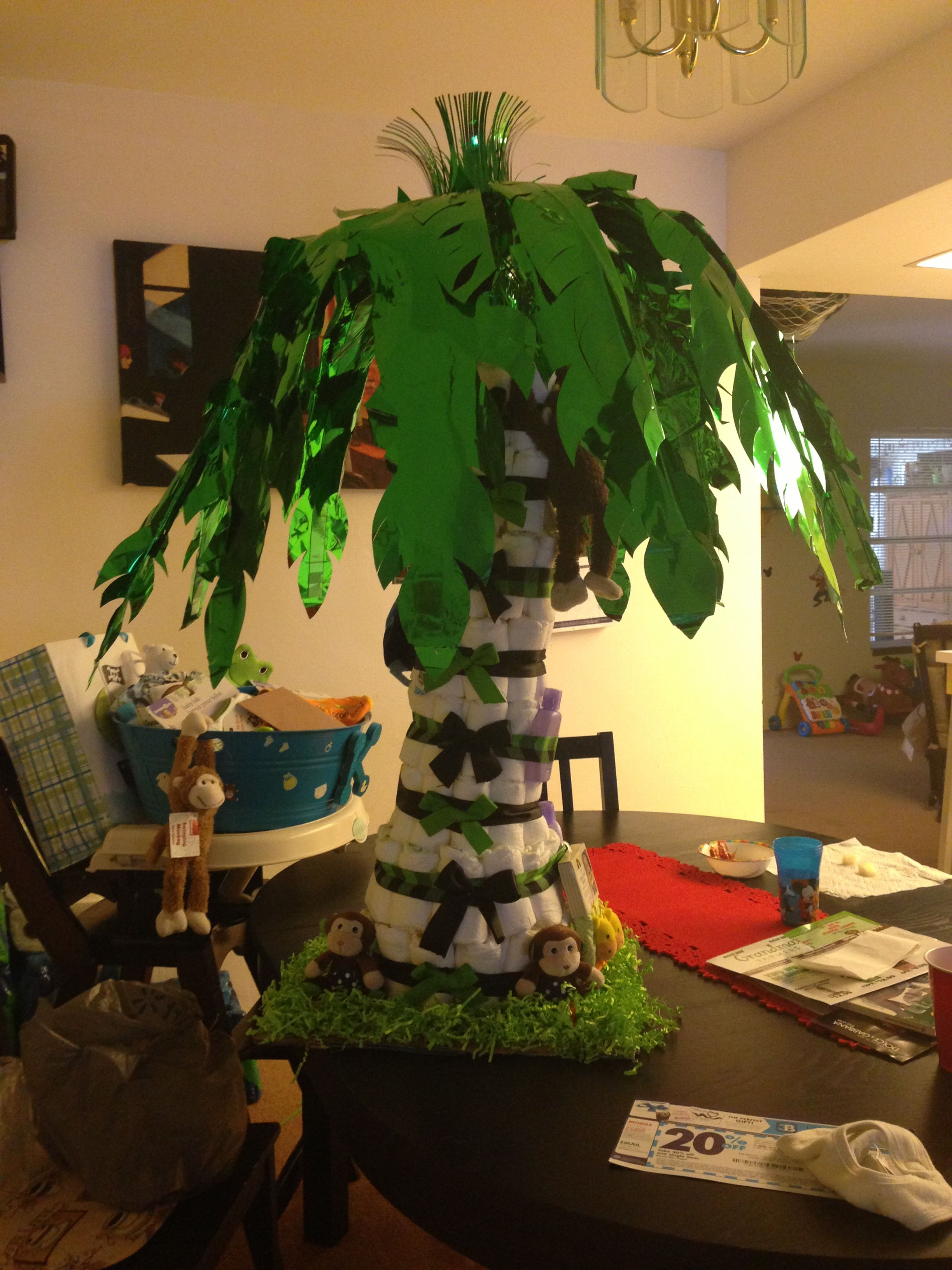 Palm Tree Diaper Cake This Was My First Time Making A