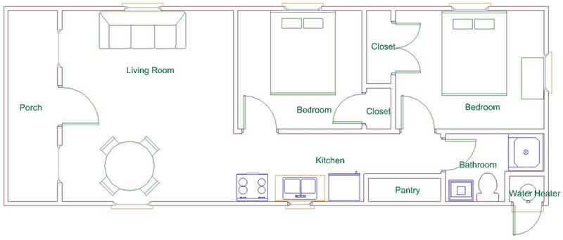 Derksen Portable Factory Finished Cabins By Enterprise Center Cabin Floor Plans Bedroom House Plans Courtyard House Plans
