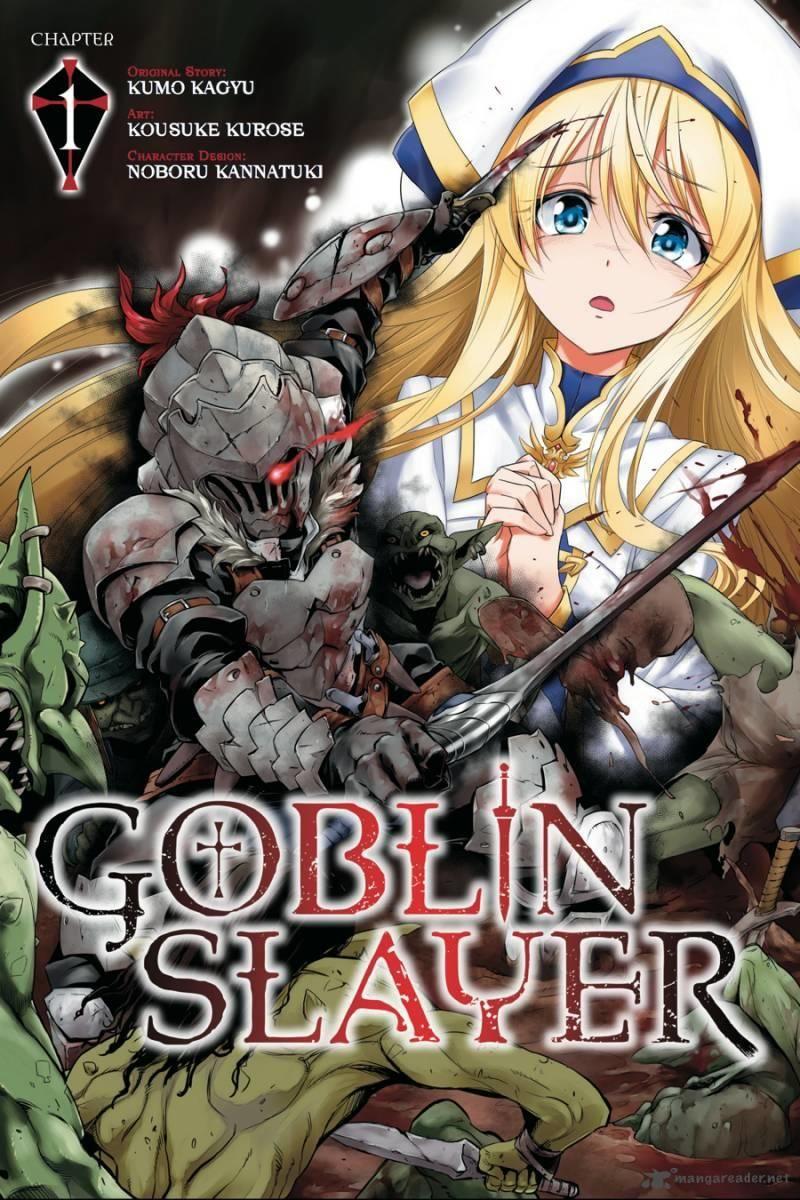 Manga Cover Slayer anime, Goblin, Slayer