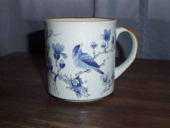KOREAN  HANDCRAFTED  CUP Featurning Blue by ShopOfCraftsByMyrna, $15.00 #etsysns