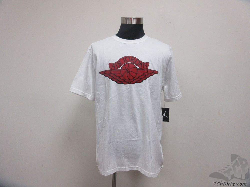 27b71d011c2cd6 Nike Air Jordan I 1 s WINGS High OG Crewneck Short Sleeve t Shirt sz L  Large NWT  Jordan  BasicTee  tcpkickz