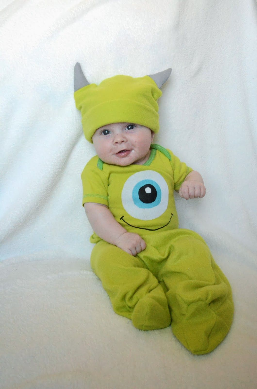 pitcher family adventures mike wazowski costume pin now read later for halloween costume idea mike wazowski costumemonster inc - Monsters Inc Baby Halloween Costumes