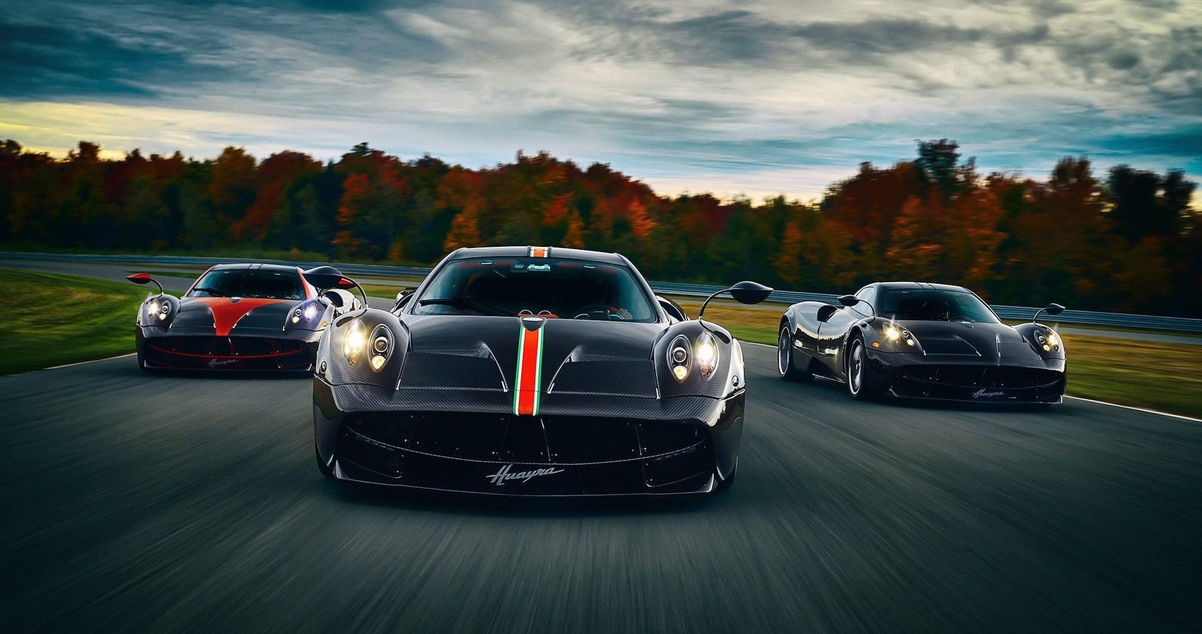 pagani huayra three cars wallpaper 4k ultra hd wallpaper  ololoshenka  Pinterest  Auto