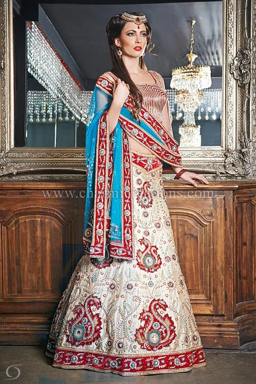 Asian wedding dresses fusion wedding outfit with for Indian fusion wedding dress