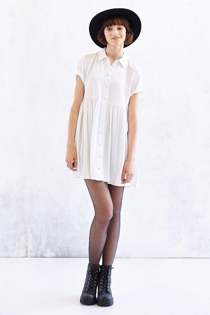 Bdg Babydoll Shirtdress Urban Outfitters Wear Urban Uutfitters