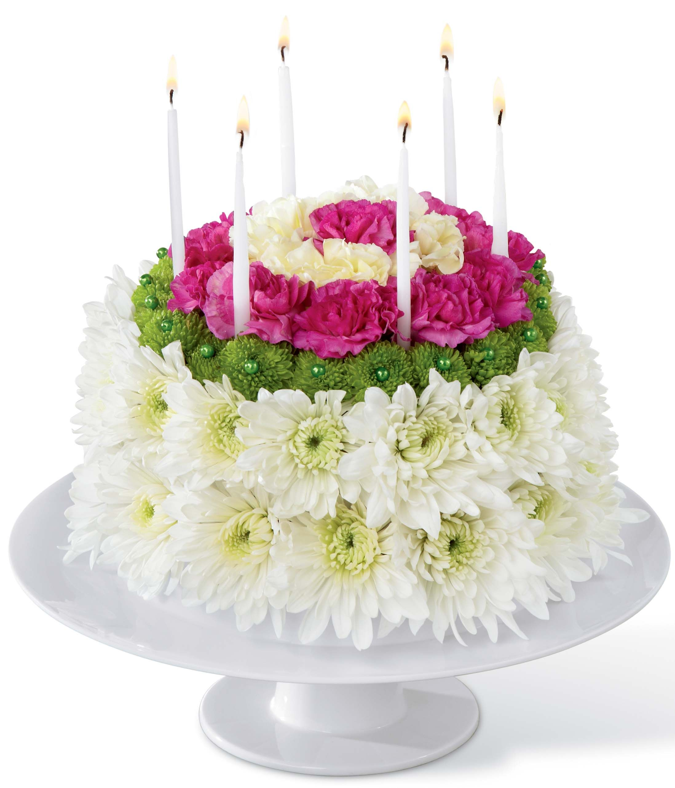Top 25 Most Beautiful Smash Cakes Happy birthday flower