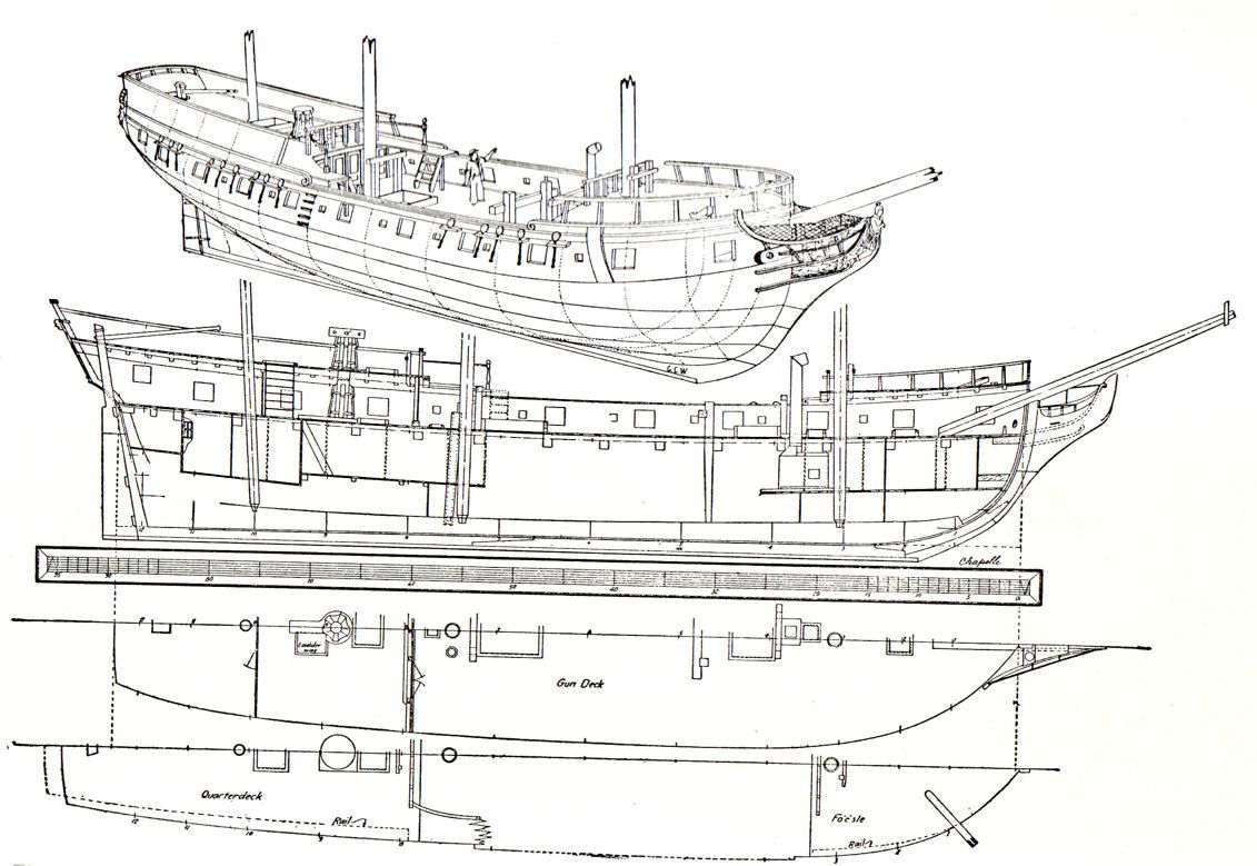 Deckplans Uncategorized Sailing Frigate Deck Planding In