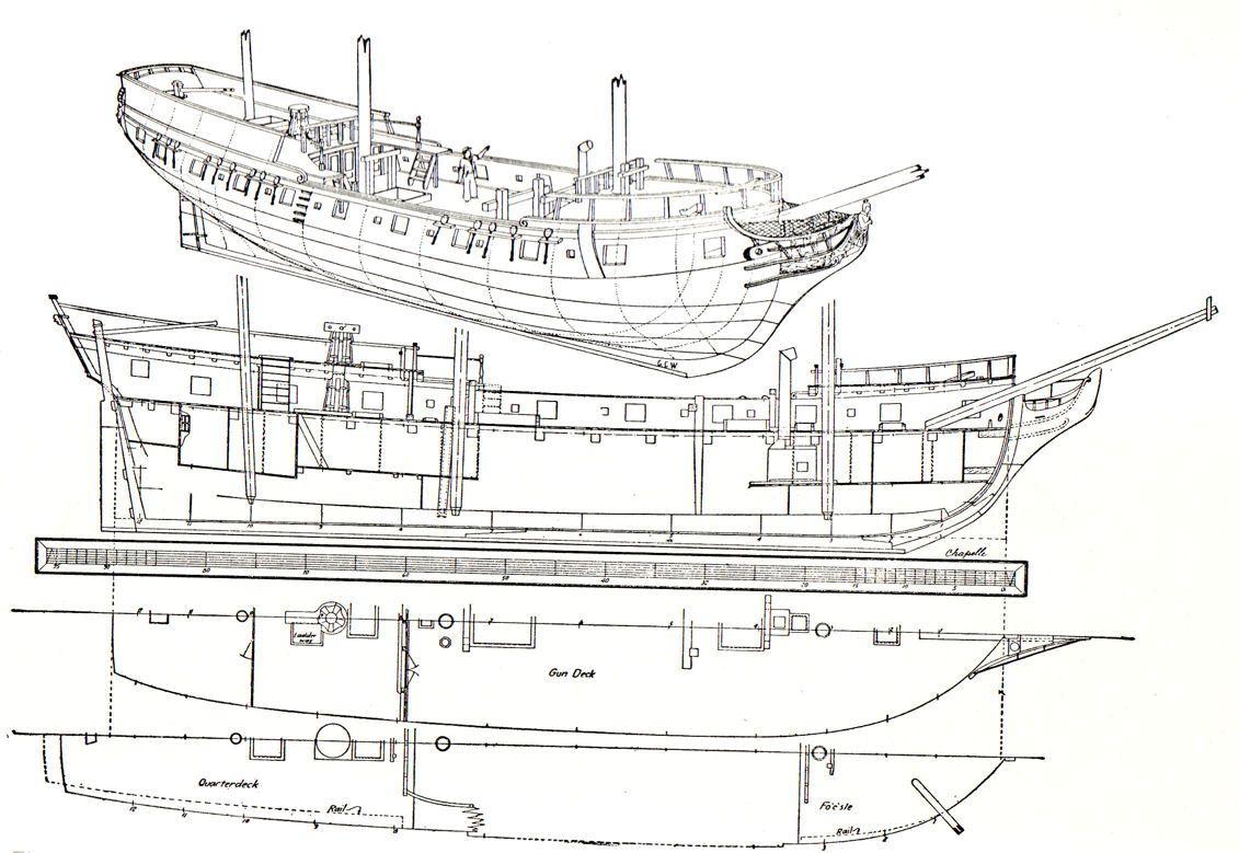 Deckplans Uncategorized Sailing Frigate Deck Planding In