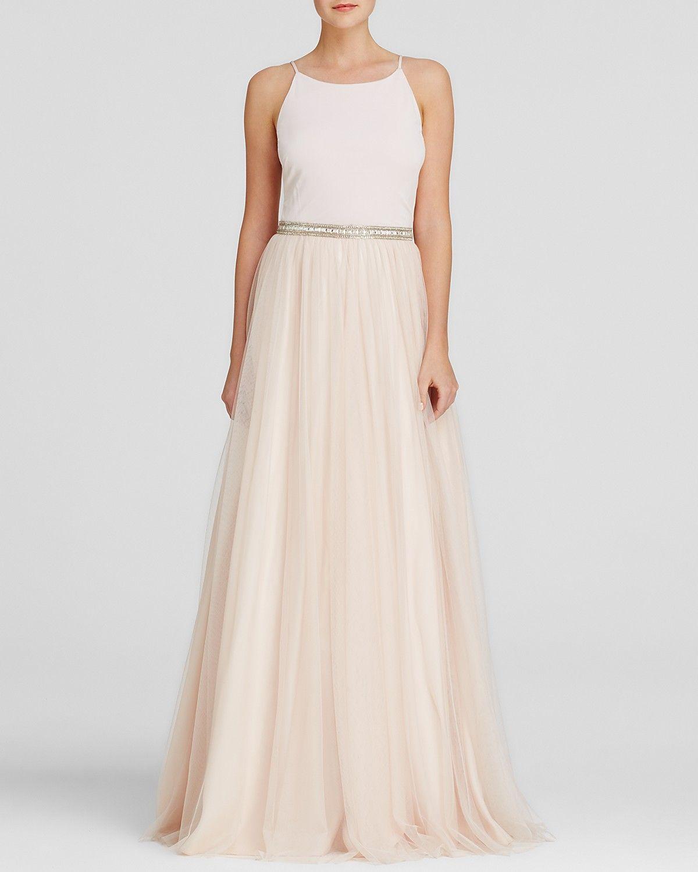 Aidan Mattox Gown - Beaded Waist Tulle Skirt | Bloomingdale\'s ...