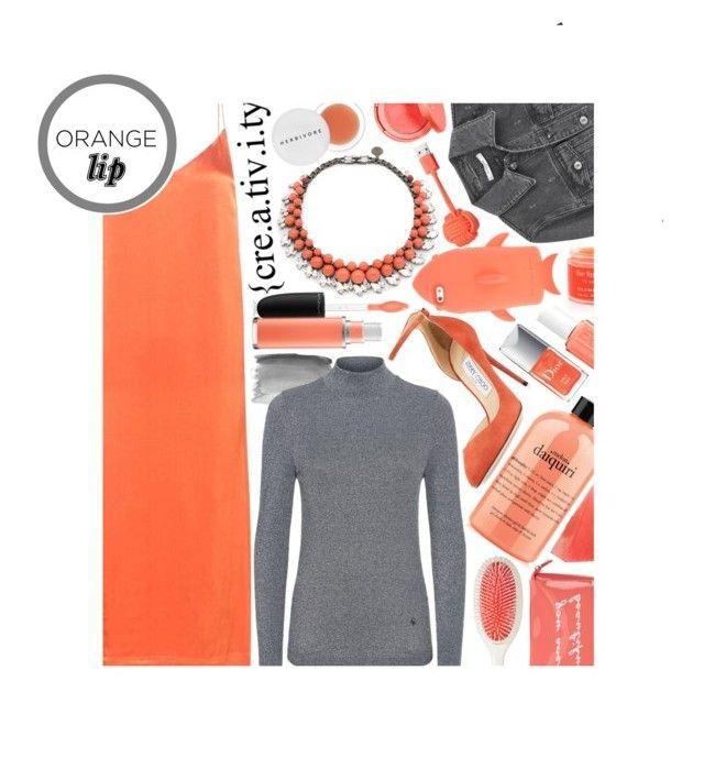 """Orange Lip: Contest Entry"" by isquaglia ❤ liked on Polyvore featuring beauty, MAC Cosmetics, Essie, Ganni, Givenchy, Ellen Conde, Sara Happ, Jimmy Choo, STELLA McCARTNEY and Native Union"