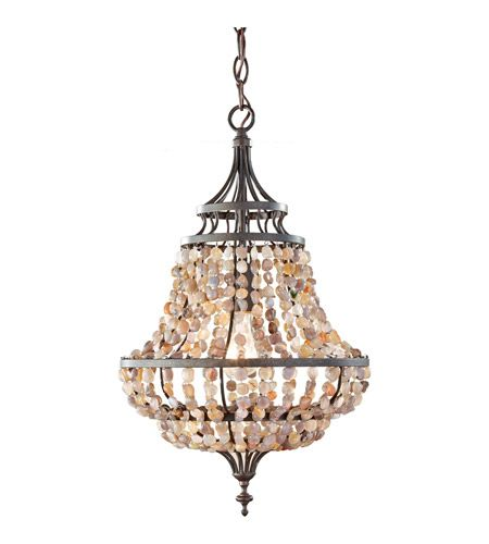Feiss Maarid 1 Light Mini Chandelier in Rustic Iron F2799/1RI #feiss #murrayfeiss #lightingnewyork #lighting