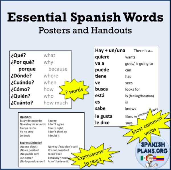 Essential Spanish Words Spanishlessons Spanish Words Spanish Expressions Learning Spanish