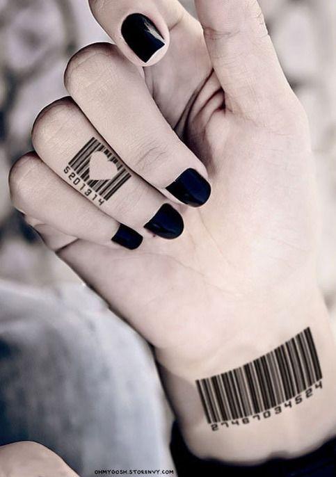 1 Set Of 12 Temporary Waterproof Tattoo S Tatuaje Codigo De