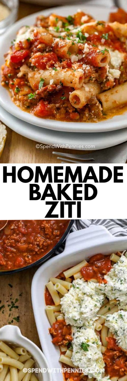 Baked Ziti is an amazing meal that is surprisingly quick to make. It's ready in about an hour!