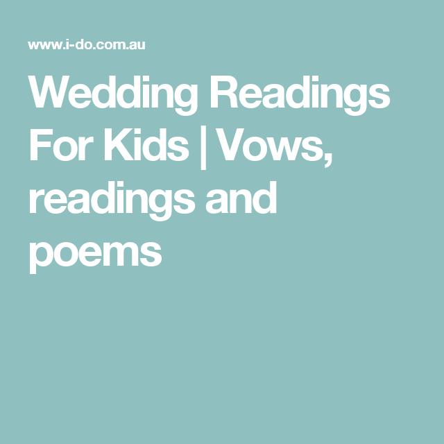 Wedding Readings For Kids