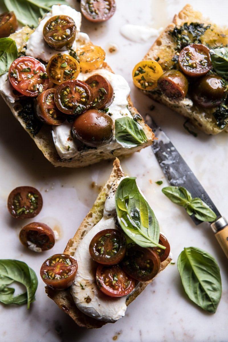 Caprese Burrata Garlic Bread | Recipe | Food, Appetizer ...