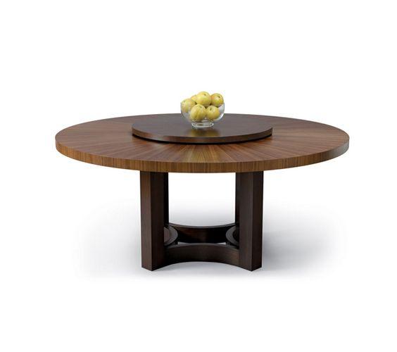 Nexus round table with lazy susan thomas lavin rustic for Runde esszimmertische modern