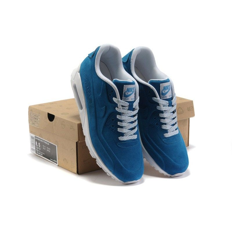 adcd6dfe50c7a4 Nike Air Max 90 VT Suede Men s Running Shoes Light Blue