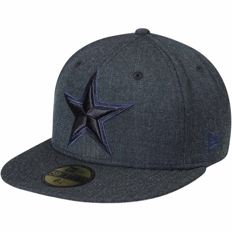 4c3b4df0 Dallas Cowboys New Era Bold 59FIFTY Fitted Hat - Heathered Black ...