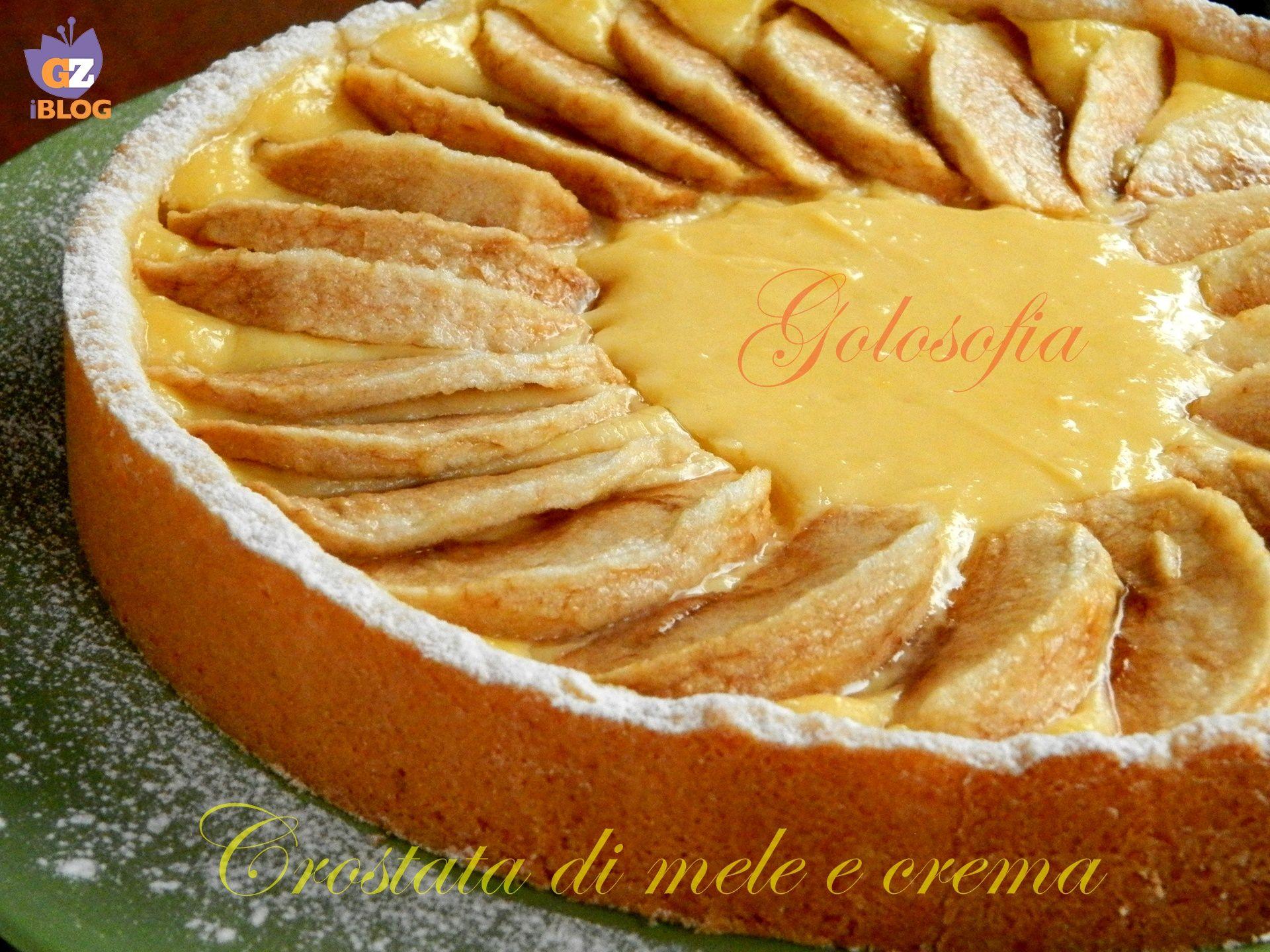 crostata di mele e crema pasticcera ricetta semplice