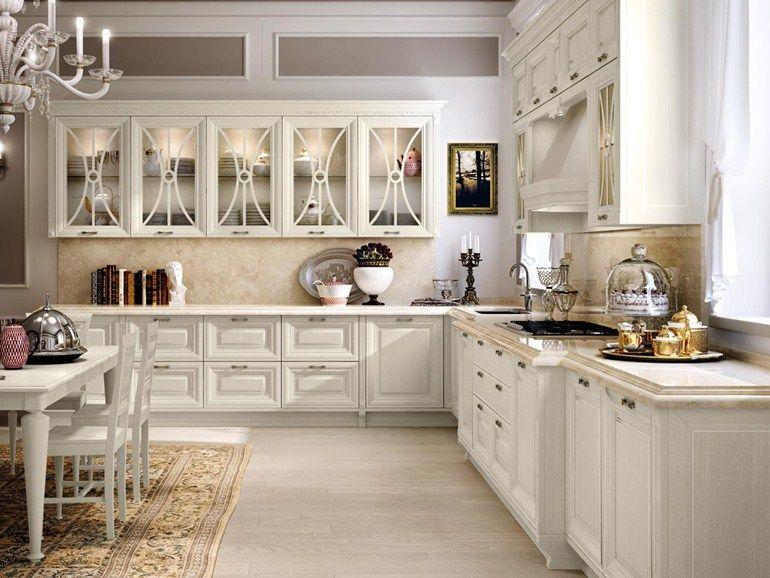 Cucina decapata con maniglie | Cucine Lube | Cucina senza ...