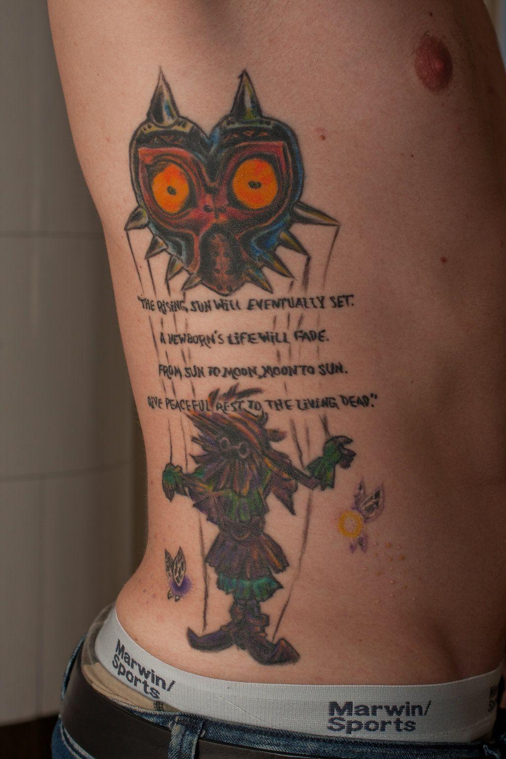 6b863f6aa Awesome Tattoo!   Funny   Zelda tattoo, Mask tattoo, Gamer tattoos