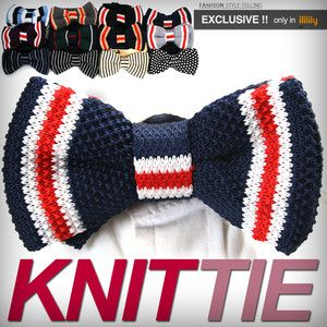 Knitted bow tie.