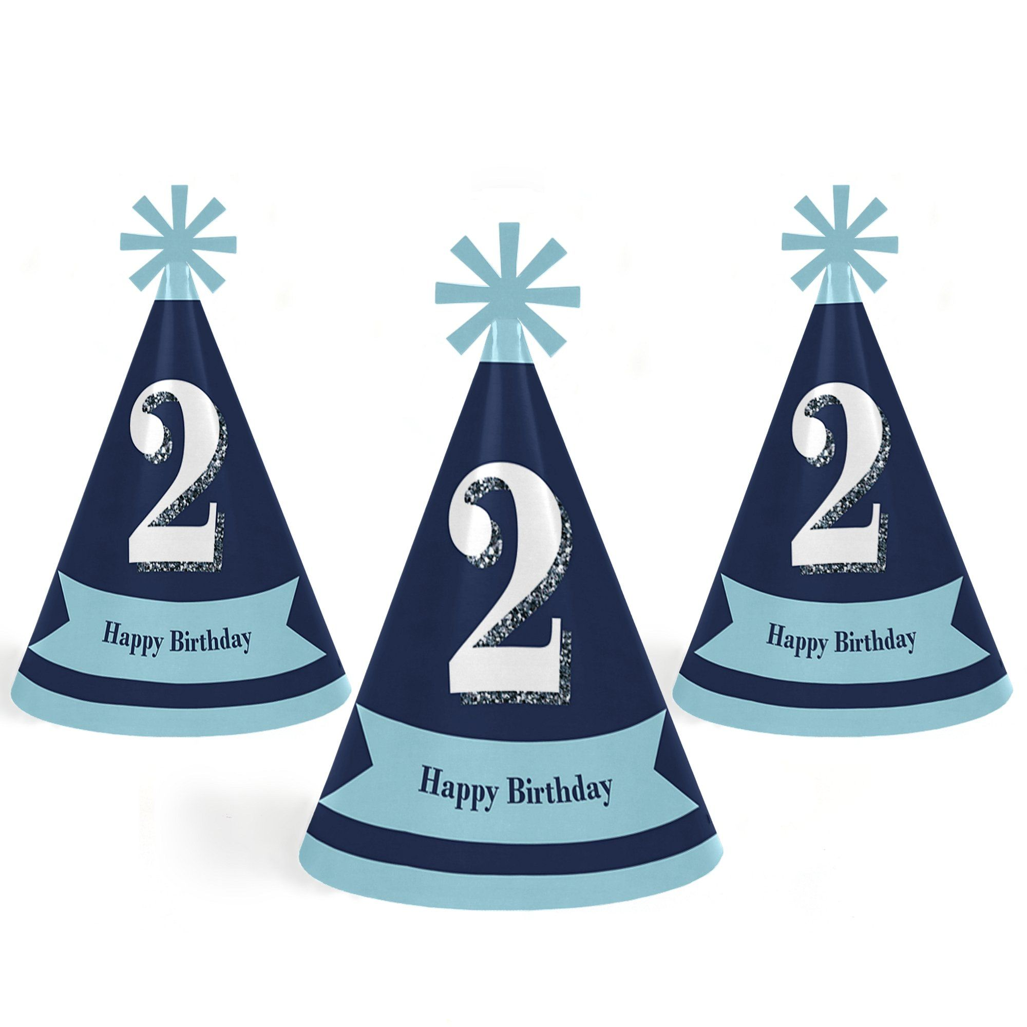 2nd Birthday Boy Two Much Fun Cone Happy Second Party Hats For Kids And Adults Set Of 8 Standard Size Be Sure To Check Out This Awesome Product
