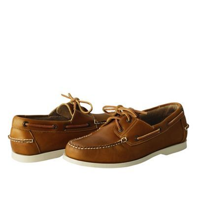 fcdd25993fc Lands' End Brown men's hand-sewn boat shoes | Debenhams | Boat Shoes ...
