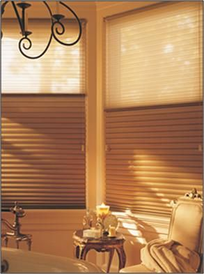 Hunter Douglas Duette Duolite Shades Choose A Sheer Fabric For The Top Half And Blackout Bottom Of Shade Giving You More Flexible