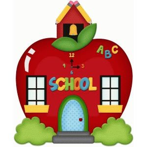 School house apple pnc | school cliparts | Abc school ...