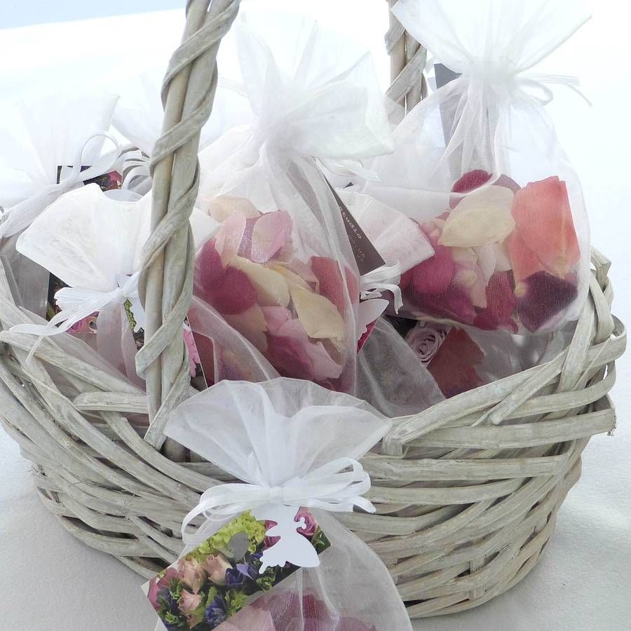 10 biodegradable mixed garden rose petal confetti bags. Black Bedroom Furniture Sets. Home Design Ideas