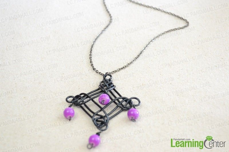 Homemade necklaces diy design your own necklace pendant with homemade necklaces diy design your own necklace pendant with aluminum wire and stone beads aloadofball Choice Image