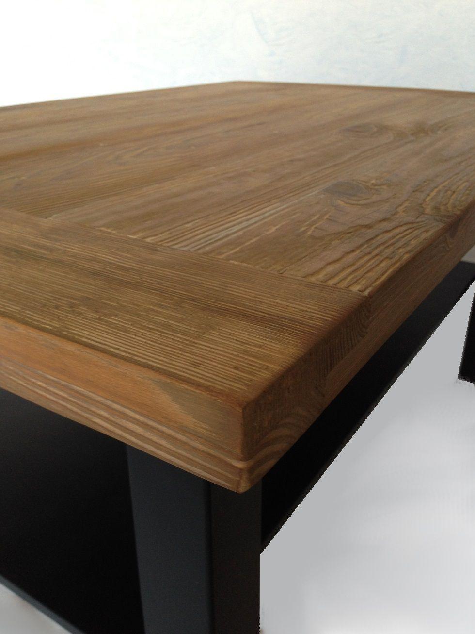 Stolik z blatem ze starego drewna Table basse en vieux bois ...