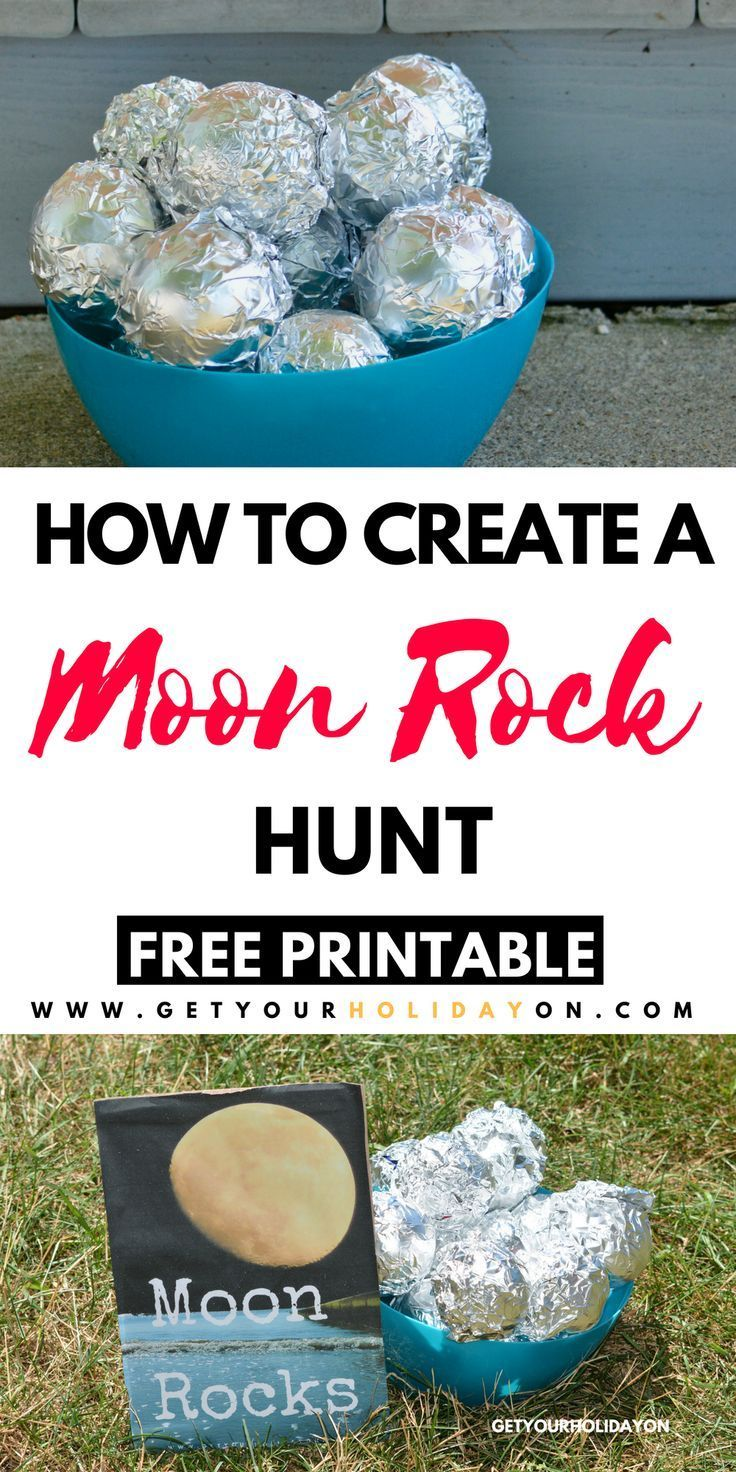 Moon Rock Hunt With A Free Printable • Get Your Holiday On